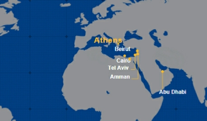 Aegean Airlines International Map