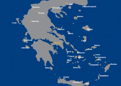 Aegean Airlines Domestic Network Map